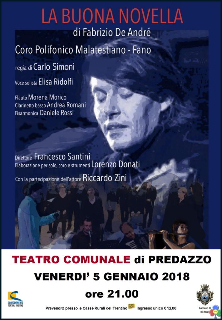 laBuonaNovella Pred 711x1024 La buona novella di De Andrè al Cinema Teatro di Predazzo