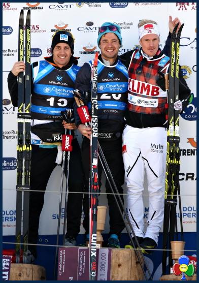 marcialonga 2018 podio maschile Al russo Chernousov la Marcialonga 2018   Classifiche