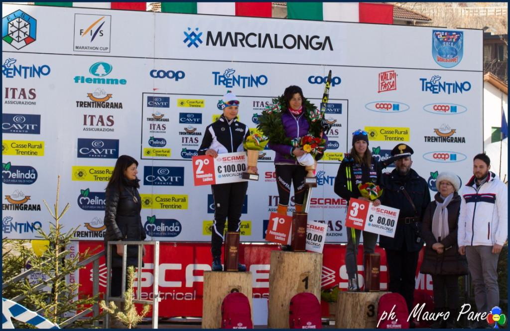 marcialonga light 2018 podio femminile 1024x665 Al russo Chernousov la Marcialonga 2018   Classifiche