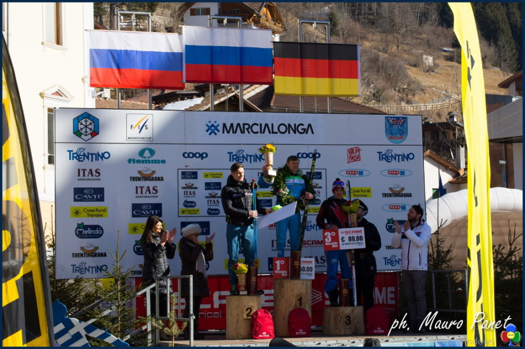 marcialonga light 2018 podio maschile 1024x682 Al russo Chernousov la Marcialonga 2018   Classifiche
