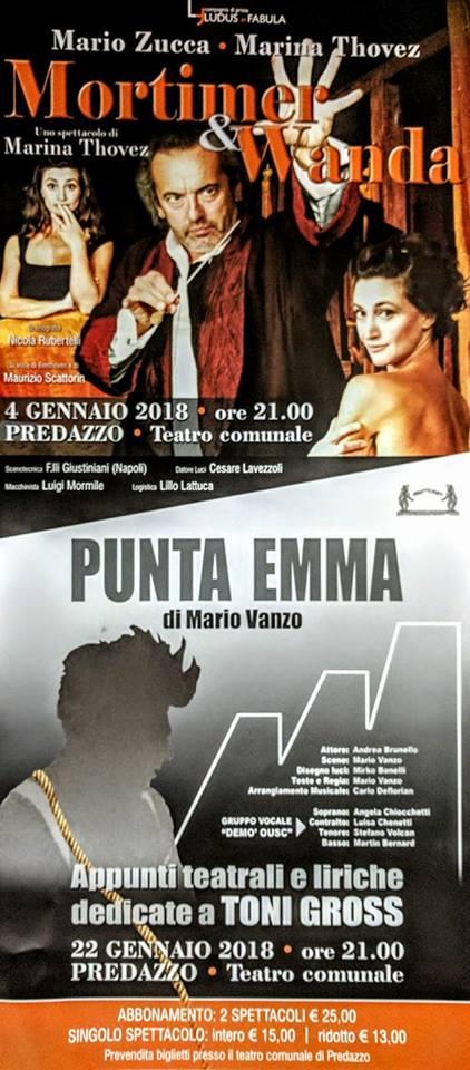 punta emma «Mortimer e Wanda» e «Punta Emma» in scena al Teatro Comunale