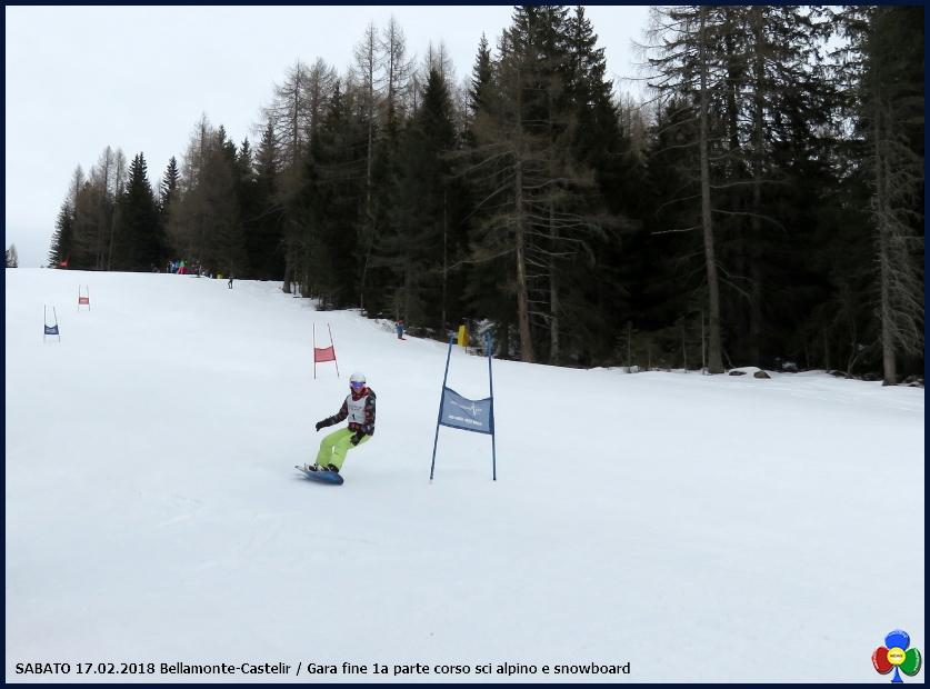 Gara fine 1a parte corso sci alpino e snowboard Disputata la Gara fine 1a parte corso sci alpino e snowboard