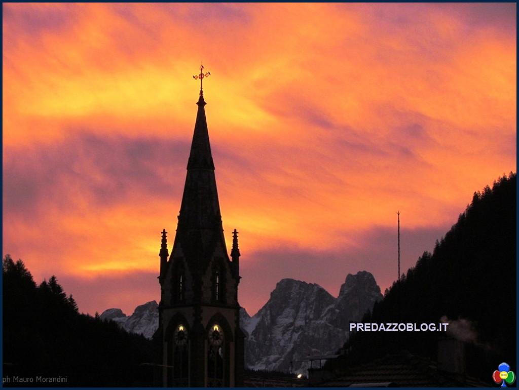 alba campanile predazzo1 1024x770 Avvisi Parrocchie, 11 18 febbraio