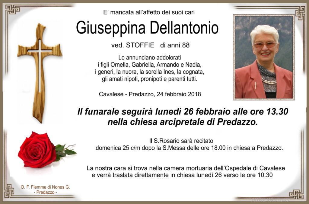 giuseppina dellantonio 1024x676 Avvisi Parrocchie 25.2/4.3 Necrologio Giuseppina Dellantonio