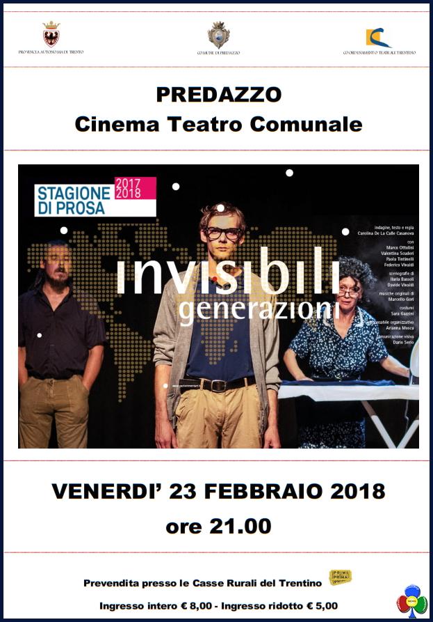 invisibili generazioni A teatro la voce delle Invisibili Generazioni