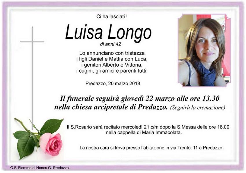 luisa longo Necrologi, Luisa Longo e Martino Morandini
