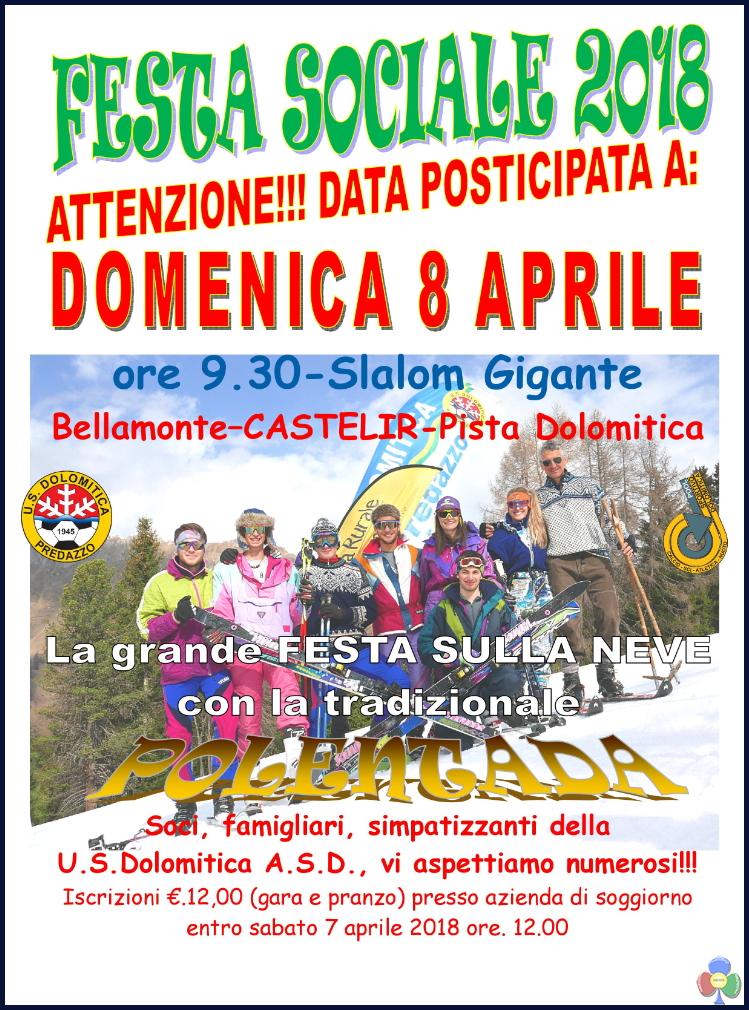 festa sociale dolomitica 2018 23° Trofeo Paolo Varesco e Mario Deflorian – Trofeo Gruppo Sciatori Fiamme Gialle