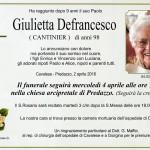 giulietta defrancesco 150x150 Avvisi Parrocchie 8 15 aprile