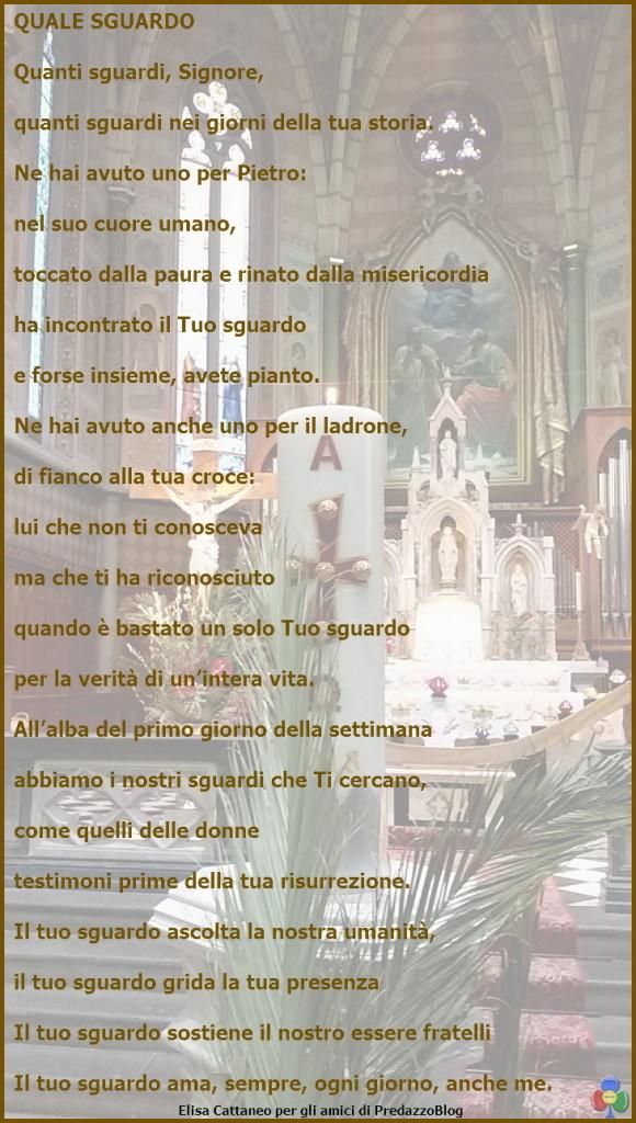 poesia lo sguardo di elisa cattaneo 580x1024 Avvisi Parrocchie 1 8 aprile. Necrologio Giulietta Defrancesco
