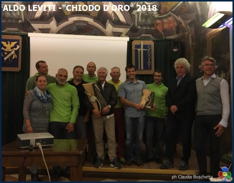"""aldo leviti chiodo doro 2018 b Allalpinista Aldo Leviti il """"Chiodo d'Oro"""" Sosat 2018"""