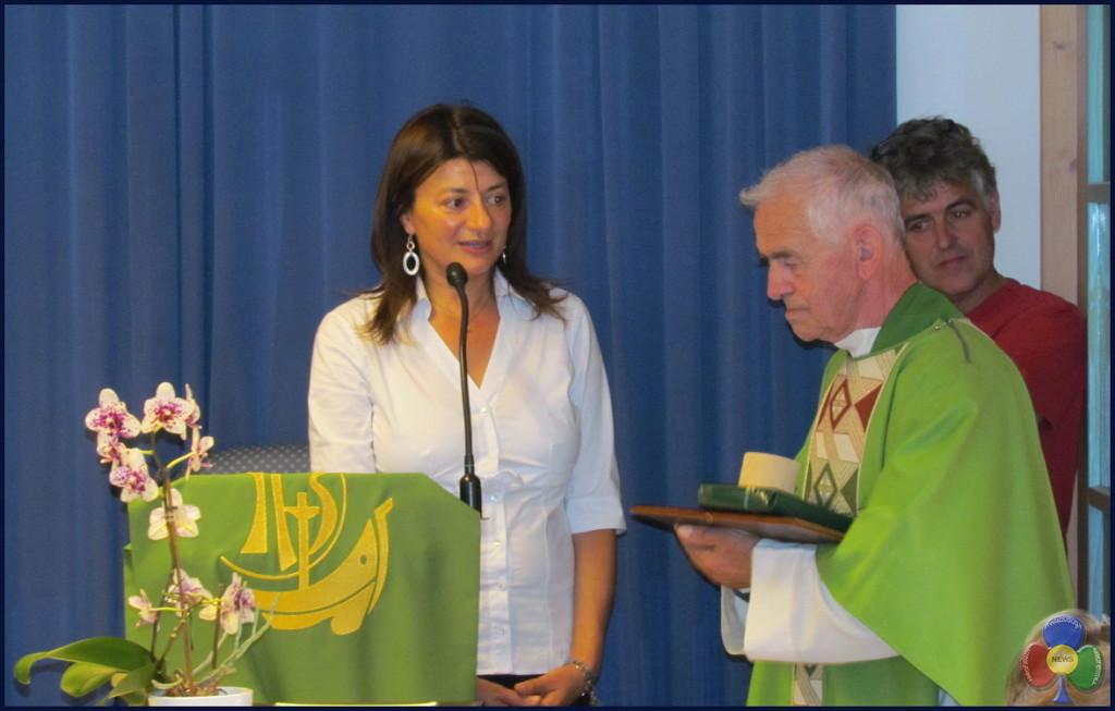 don donato vanzetta con sindaca maria bosin e presidente casa di riposo francesco delugan 26 luglio 2015 1024x653 Addio a don Donato Vanzetta