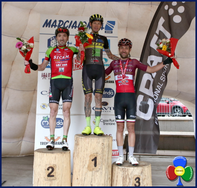 marcialonga cycling 2018 podio m A Cecchini e Bonfanti la 12°Marcialonga Craft   Video