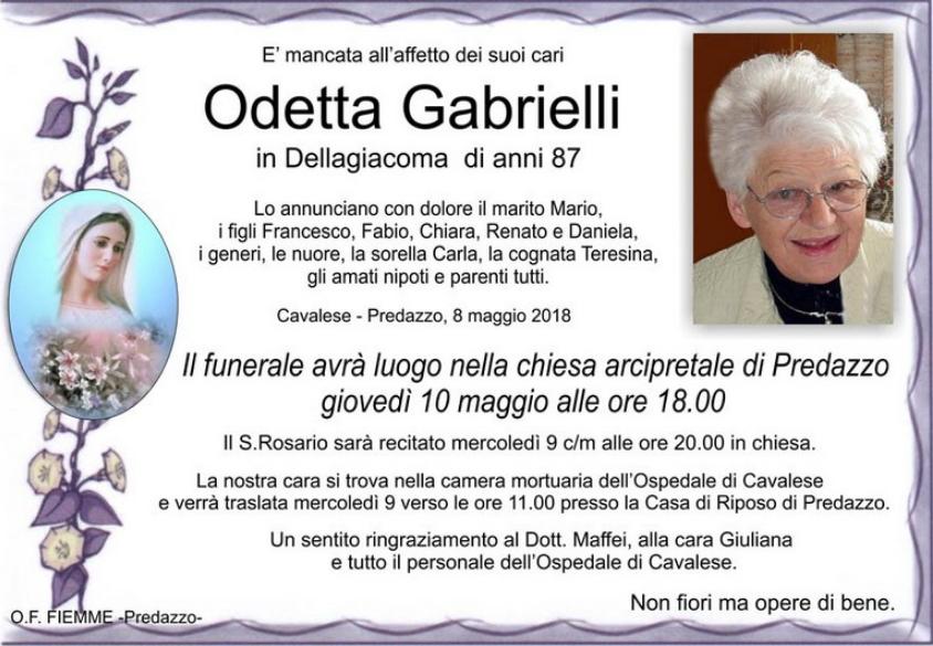 odetta gabrielli Avvisi Parrocchie 6 13 maggio. Necrologio Odetta Gabrielli