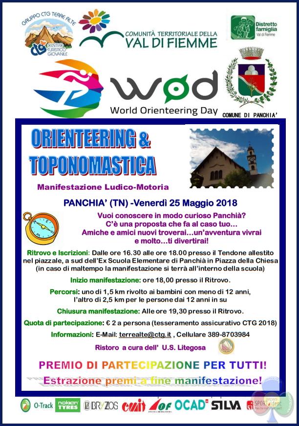 orienteering e toponomastica Orienteering & Toponomastica, venerdì a Panchià