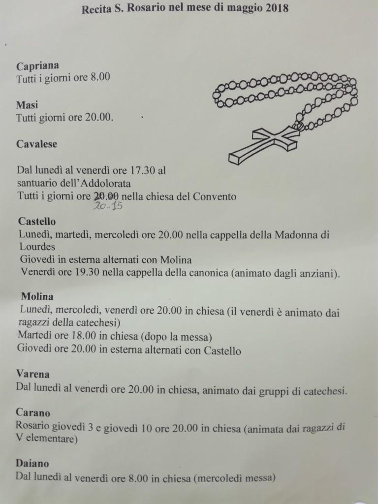 %name Avvisi Parrocchie 6 13 maggio. Necrologio Odetta Gabrielli