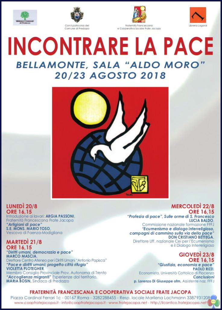 """convegno bellamonte 2018 pace 736x1024 Il Convegno di Bellamonte """"Incontrare la pace"""" in un libro"""