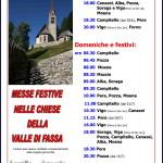 orario messe festive fassa estate 2018 150x150 Avvisi Parrocchie 4/11 agosto. Necrologio Vigilio Mich
