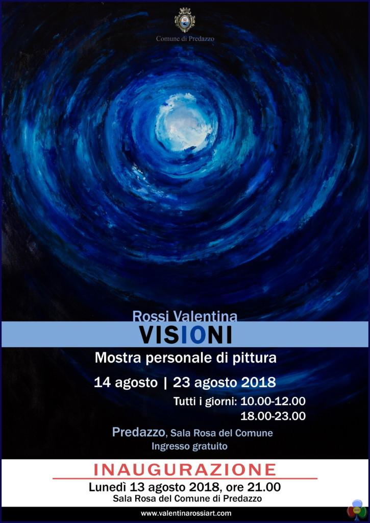 valentina rossi mostra manifesto 725x1024 Le Visioni di Valentina Rossi in Sala Rosa fino al 23 agosto