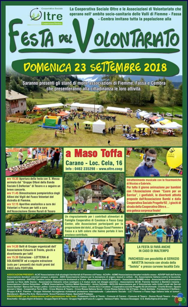 festa del volontariato fiemme fassa 2018 627x1024 Festa del Volontariato di Fiemme, Fassa e Cembra a Maso Toffa