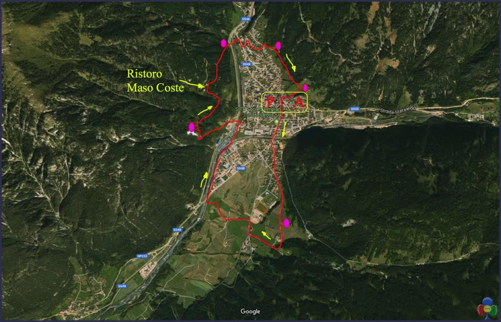 Google Maps Predazzo x S. Martino 1024x658 11 novembre 2018 Walking Challenge tappa finale a Predazzo