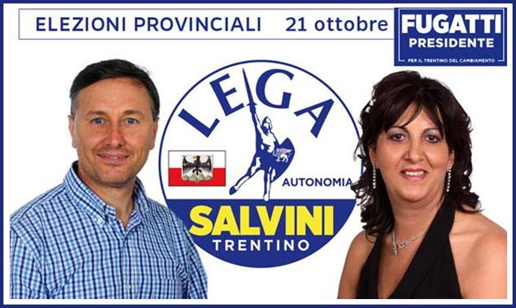 bruna dalpalu gianluca cavada Gianluca CAVADA e Bruna DALPALU candidati LEGA Valle di Fiemme