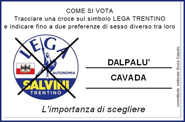 dalpalu cavada Gianluca CAVADA e Bruna DALPALU candidati LEGA Valle di Fiemme