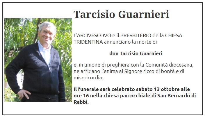 don tarcisio guarnieri Avvisi Parrocchie 14 – 21 ottobre. Don Tarcisio Guarnieri RIP
