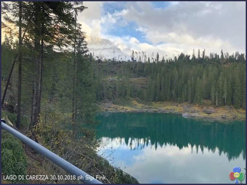 lago carezza disastro bosco TEMPESTA VAIA trasforma i dintorni di Predazzo   le foto
