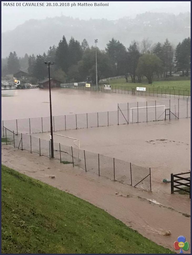 masi di cavalese campo sportivo allagato Maltempo in Trentino: protezione civile allertata. Forti piogge domani