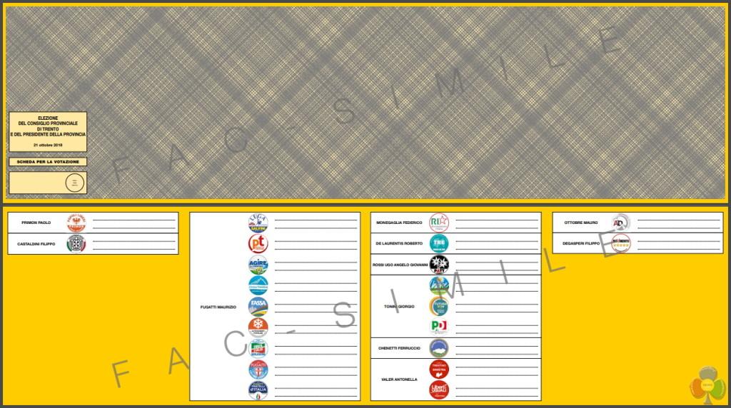scheda elettorale fac simile 1024x572 Elezioni provinciali 2018 in Trentino: Candidati e Programmi