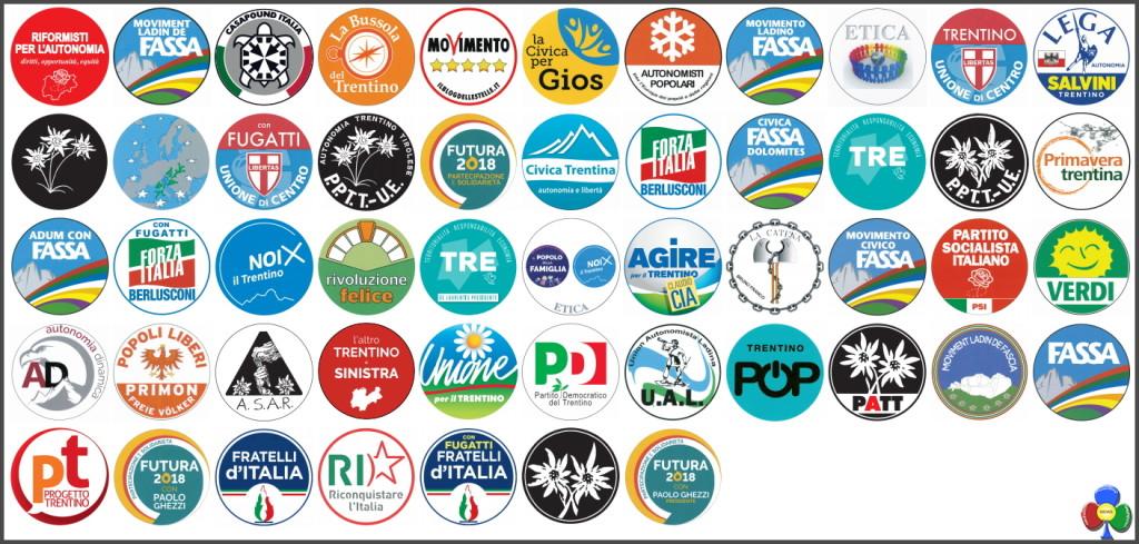 simboli elezioni provinciali trentino 2018 1024x489 Elezioni provinciali 2018 in Trentino: Candidati e Programmi