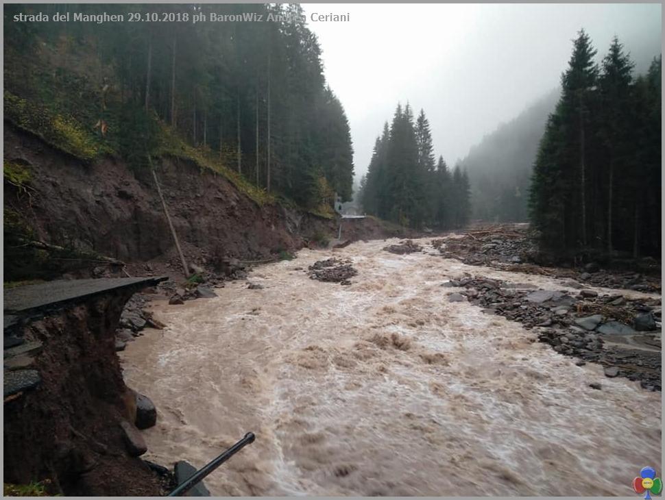 strada del manghen alluvione Maltempo in Trentino, domani chiusura di tutte le scuole