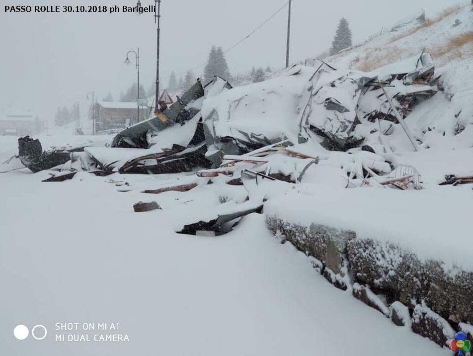 PASSO ROLLE 30.10.2018 ph Barigelli3 Paneveggio   Passo Rolle si contano i danni. Le foto