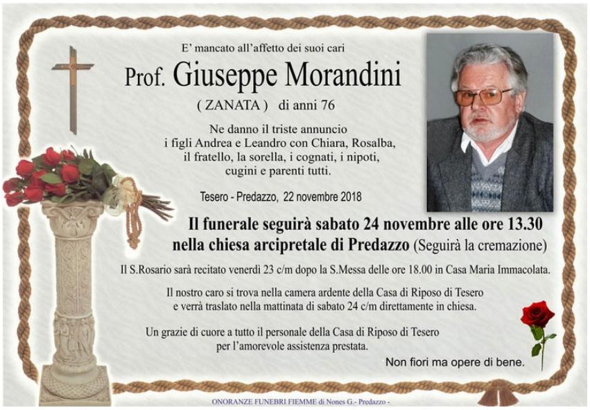 giuseppe morandini zanata Avvisi Parrocchie 25 novembre    2 dicembre