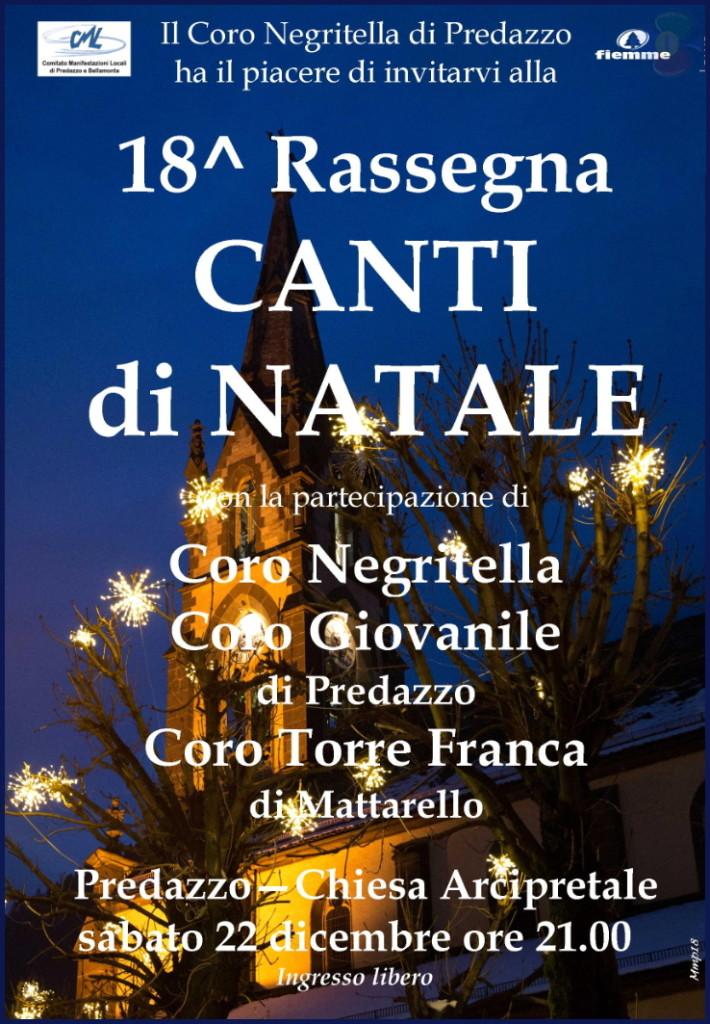 coro negritella predazzo 2 710x1024 22 dicembre, Rassegna Canti di Natale con 3 cori