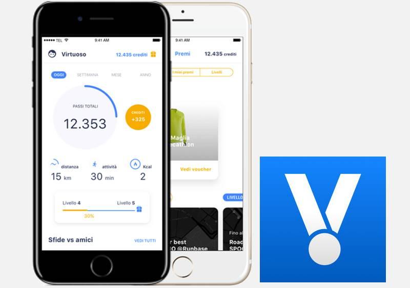 Healthy Virtuoso app ricompense fitness sport attività fisica