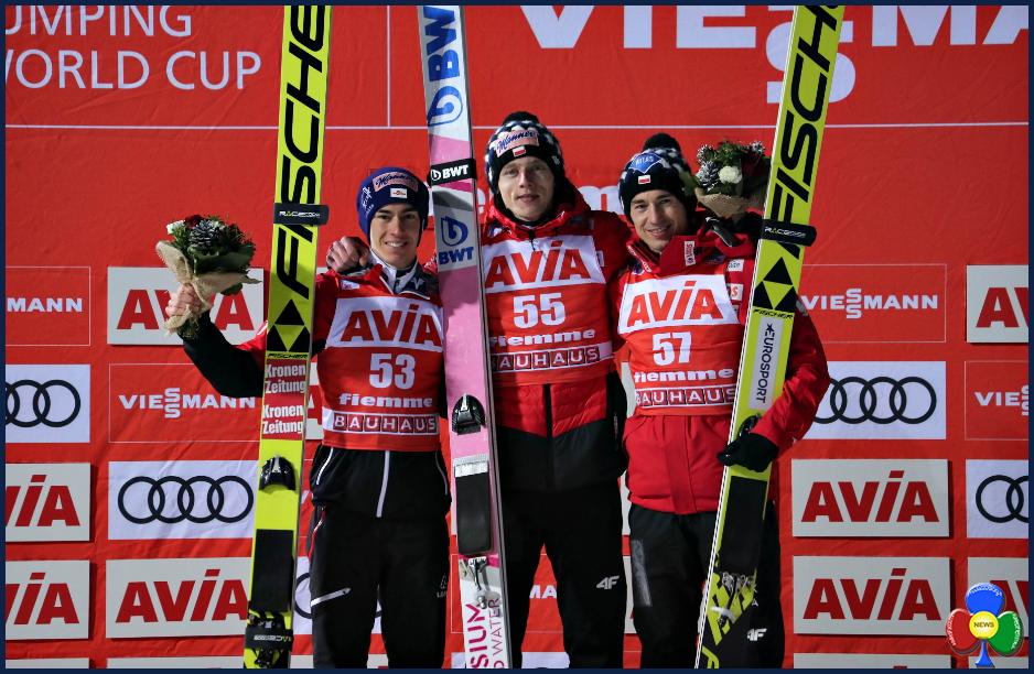 FIS Ski Jumping World Cup fiemme predazzo 2019 podio KUBACKI Top Gun allo Stadio del Salto di Predazzo