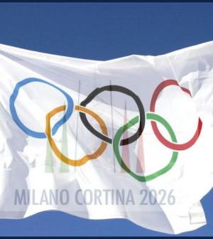 bandiera candidatura olimpica milano cortina 2026