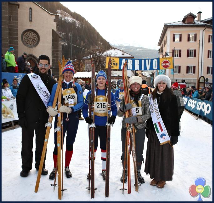 marcialonga story 2019 podio femminile Marcialonga Story 2019   splendida sfilata vintage sugli sci