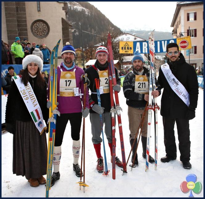 marcialonga story 2019 podio maschile Marcialonga Story 2019   splendida sfilata vintage sugli sci