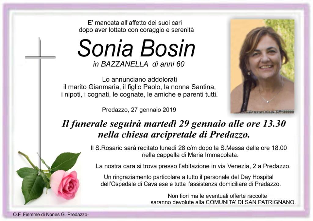 sonia bosin 1024x723 Avvisi Parrocchia 23.1/3.2 Necrologi Sonia Bosin   Umberto Macor   Laura Occhipinti
