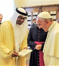 PAPA FRANCESCO RICEVE IL PRINCIPE EREDITARIO DI ABU DHABI