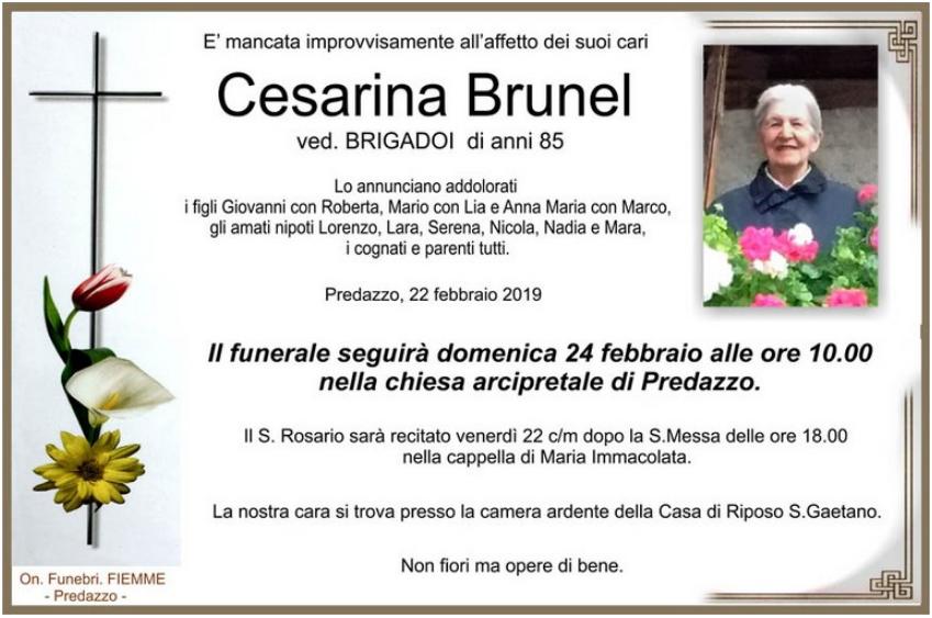 cesarina brunel Avvisi Parrocchia 24 febbraio – 3 marzo