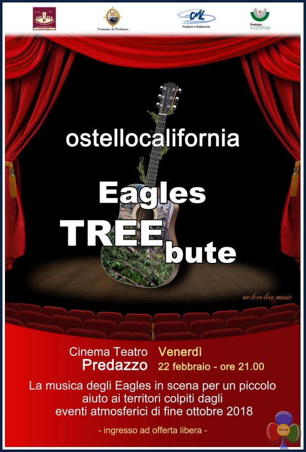eagle treeboute Eagles tribute band, concerto solidale per i boschi distrutti