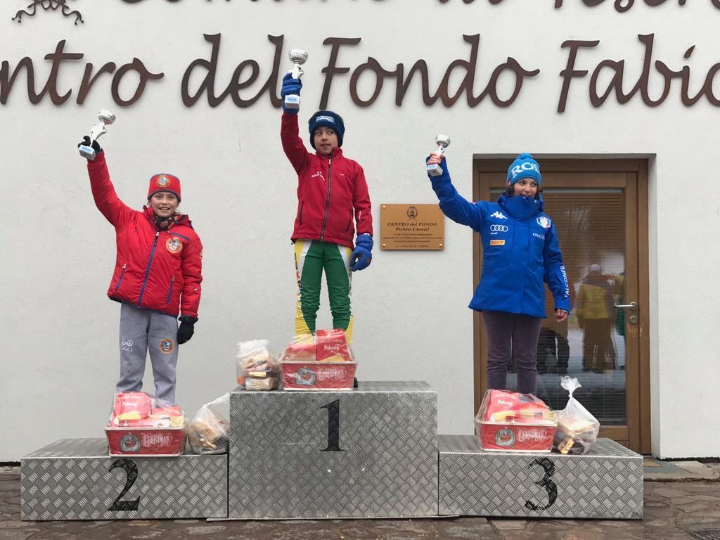 podio salto u12 SALTO e COMBINATA Il team u14 Trentino vince il tricolore