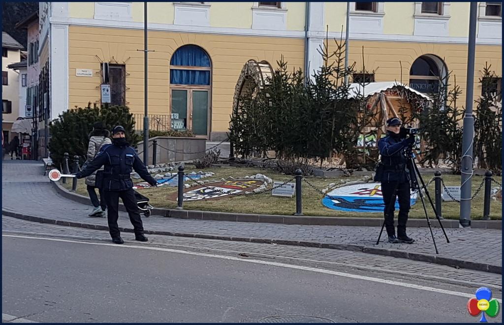 polizia locale alta val di fiemme 1024x661 Sicurezza stradale, controlli di velocità in alta Val di Fiemme