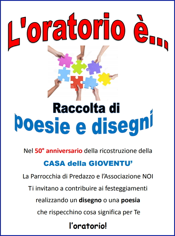 oratorio predazzo 50anni Avvisi Parrocchie 24 31 marzo. Nuovo sito internet per l'Unità pastorale