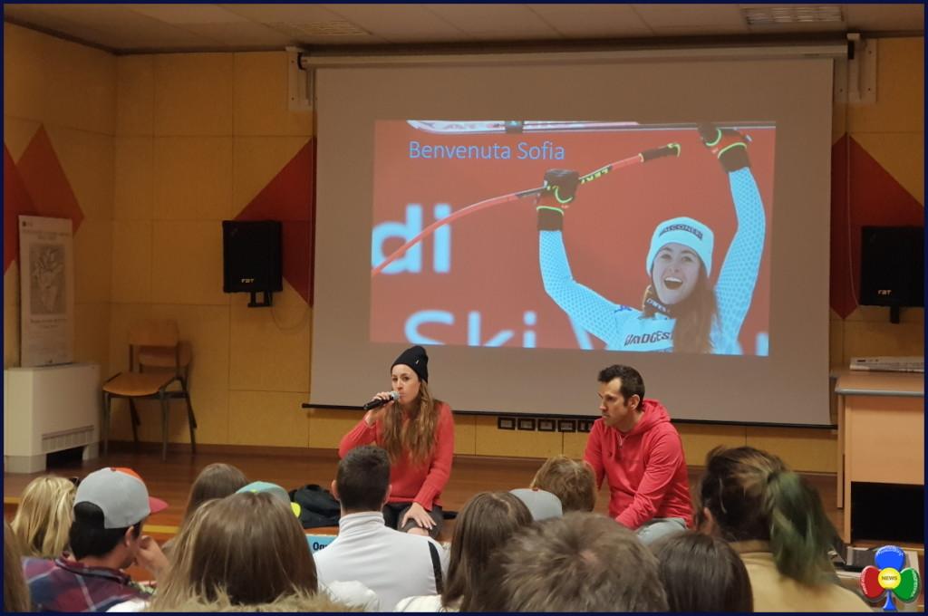 sofia goggia a predazzo 1024x680 Sofia Goggia incontra gli studenti a Predazzo