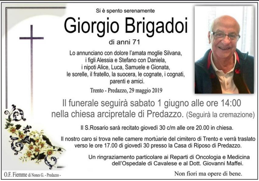 giorgio brigadoi Avvisi Parrocchie e Necrologi, Mario Volcan e Giorgio Brigadoi