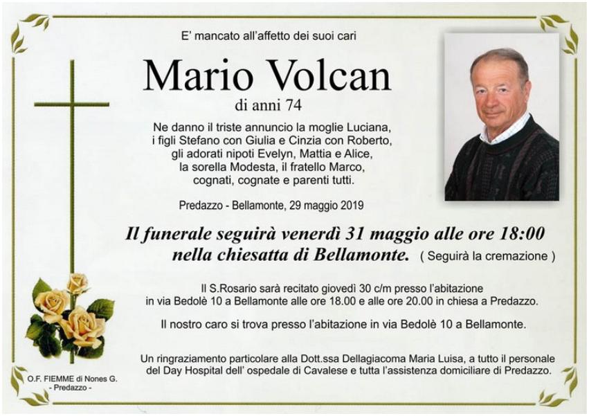 mario volcan Avvisi Parrocchie e Necrologi, Mario Volcan e Giorgio Brigadoi